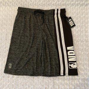 NBA Men's Black/Gray Basketball Shorts - L